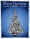 Christmas tree stylized drawing 3 Stock Images