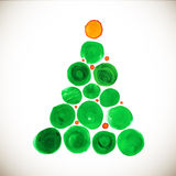 Christmas tree stylized watercolor illustration Royalty Free Stock Photos