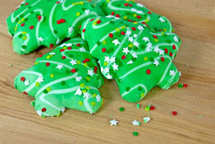 Christmas tree sugar cookies Royalty Free Stock Image