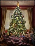 Christmas tree surrounded by presents Stock Photography