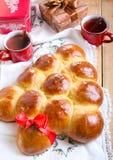 Christmas tree sweet buns Stock Photos