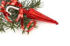 Christmas tree with sweet umbrella Stock Photos