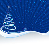 Christmas tree swirl background Stock Photography