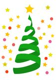 Christmas Tree Swirl decorations illustrations Background vector illustration