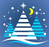 Christmas tree symbol Royalty Free Stock Images