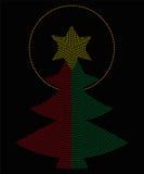 Christmas tree symbol radial dot pattern Royalty Free Stock Photo
