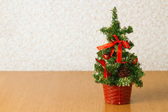 Christmas tree on the table Royalty Free Stock Photos