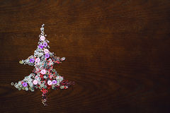 Christmas tree on the table Royalty Free Stock Images
