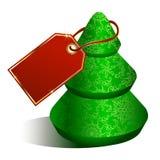 Christmas tree with tag Stock Image
