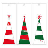 Christmas tree tags Stock Photo