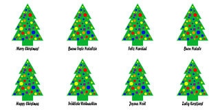 Christmas Tree Tags or Stickers stock photos