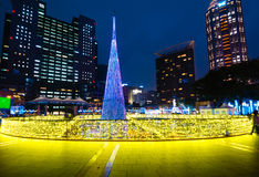 Christmas Tree in Taipei city hall Royalty Free Stock Images