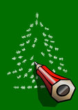 Christmas tree tally marks Stock Photography