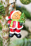 Christmas tree teddy bear santa decoration Stock Photos