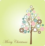 Christmas tree template Royalty Free Stock Photography