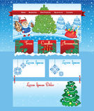 Christmas tree template on line shop Stock Images