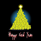 Christmas tree from tennis ball Royalty Free Stock Photo
