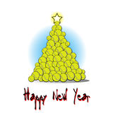 Christmas tree from tennis ball Royalty Free Stock Photography