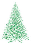 Christmas tree with text, vector. Abstract Christmas tree with text Merry Christmas, vector illustration Royalty Free Stock Photo