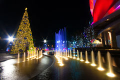 Christmas tree in Thailand stock image