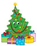 Christmas tree theme 1 Royalty Free Stock Photo