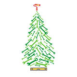 Christmas tree tools Royalty Free Stock Images