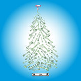 Christmas tree tools. Image of Christmas tree tools scetch hand drawn royalty free illustration