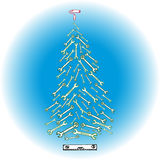Christmas tree tools. Image of Christmas tree tools sketch hand drawn royalty free illustration