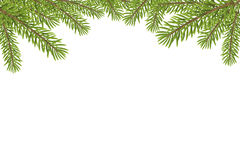 Christmas tree top frame isolated on white background Stock Photos