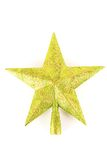 Christmas tree top star. Green Christmas tree top star isolated on white background Royalty Free Stock Photos