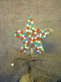 Christmas tree top star Royalty Free Stock Image