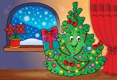 Christmas tree topic image 3 Stock Image