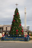 Christmas Tree in town center of Franklin, Royalty Free Stock Image