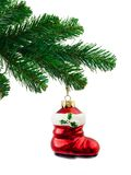 Christmas tree and toy Stock Photos
