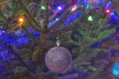 Christmas tree toy. On the background of Christmas tree needles Royalty Free Stock Image
