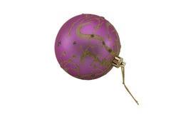Christmas-tree toy - the ball isolated. Christmas-tree toy - the ball on a white background stock photo