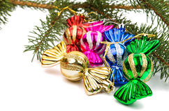 Christmas tree toy candy Stock Image