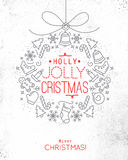 Christmas tree toy card Stock Photography