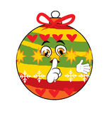 Christmas tree toy cartoon Royalty Free Stock Image