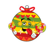 Christmas tree toy cartoon Royalty Free Stock Images