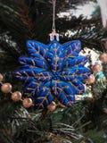 Christmas tree toy. Blue Royalty Free Stock Photo