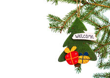 Christmas tree toy decoration. royalty free stock photo