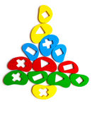 Christmas tree toy of the elements Stock Photo