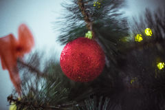 Christmas tree. And toy Stock Photography