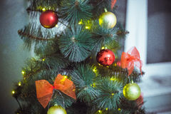 Christmas tree. And toy Royalty Free Stock Image