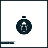 Christmas tree toy icon simple illustration Royalty Free Stock Image