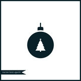 Christmas tree toy icon simple illustration Royalty Free Stock Photo