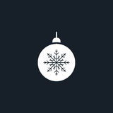 Christmas tree toy icon simple illustration Royalty Free Stock Photos