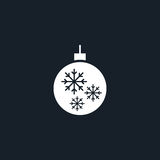 Christmas tree toy icon simple illustration Royalty Free Stock Images