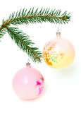 Christmas tree and toy Royalty Free Stock Images